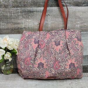 Lucky Brand pink Paisley canvas tote bag